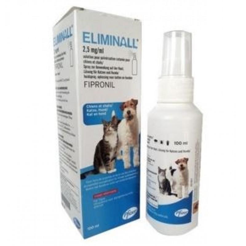 Zoetis Eliminall Spray 100 ml Tratamento de infestações por pulgas e carraças