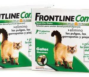 Merial Frontline Combo Gato/Furão (3 Pipetas) Antiparasitário