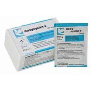 Chevita Doxycyclin-T 1 saquinho, (infecções bacterianas). Para pombos e pássaros